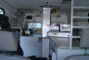 TV communications system car