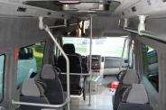 Urban type passenger minibus with sitting and standing places
