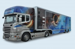 Semitrailer, laboratory with extend sides